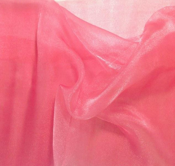 "Crystal Sheer Organza Fabric for Fashion, Crafts, Decorations 58"" By the Yard Coral"