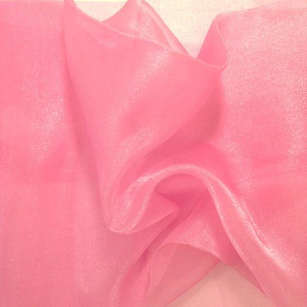 "Crystal Sheer Organza Fabric for Fashion, Crafts, Decorations 58"" By the Yard Dusty Rose"