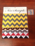 Zig Zag Chevron Canvas Outdoor Fabric Waterproof / Brown/Beige / Sold By The Yard
