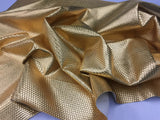 FAUX LEATHER LATTICE BASKET WEAVE UPHOLSTERY VINYL FABRIC Gold BY THE YARD PU LEATHER