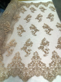 Shop Beaded Mesh Lace Fabric Lace By The Yard Embroidered Lace With Beads And Sequins French Bridal Veil Cooper