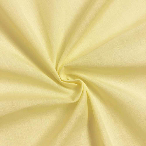 "Polycotton Fabric Poly Cotton Dress Craft 60"" Wide By Yard For Shirts Clothing Garments Bed Spreads Pillow Cases Fashion Broadcloth Yellow"
