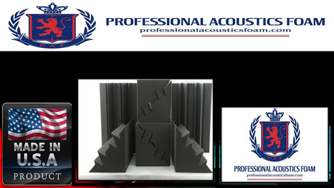 Soundproof Foam Professional Acoustic Foam Acoustic Bass Trap, 8-pack - 12x12x24 Charcoal