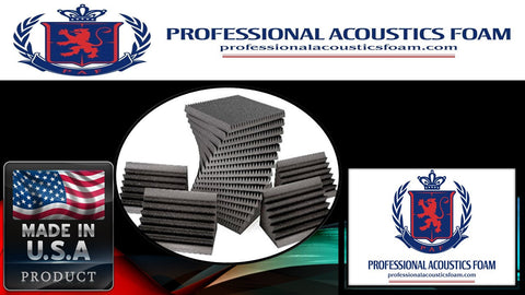 Soundproof Foam Professional Acoustic Sound Foam Kit, Incl. 96 Sqft. 2-in. Thick Wedge Foam and 8 Corner Bass Traps
