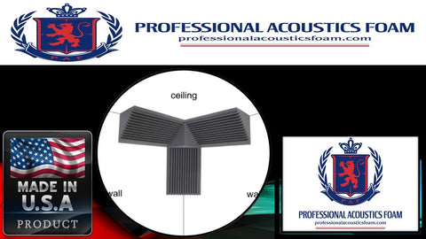 Soundproof Foam Professional Acoustic Foam Soundproof Bass Trap Corner Kit