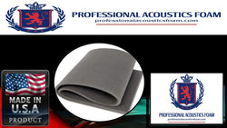 "UPHOLSTERY FOAM Professional Plat Foam Sheets in Box of 12- 2'x4'x1"" Panels in Charcoal Only"