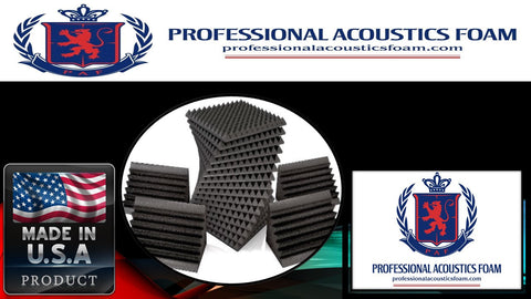 Soundproof Foam Professional Acoustic Sound Foam Kit, Incl. 224 Sqft. 2-in. Thick Pyramid Foam and 8 Corner Bass Traps