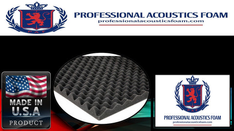 Soundproof Foam Professional 1.5 in. Gun Case Foam 24 x 24 x 1.5 Egg Crate - 1 piece