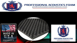 "Soundproof Foam Professional Acoustic Foam 2-1/2"" X 24"" X 18"" Ul 94"