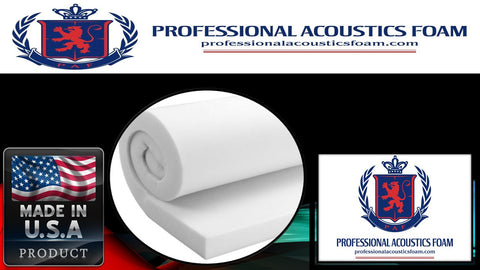 """18/"""" Wide X 72/"""" Long Regular Density. Professional Upholstery Foam 2/"""" Thick"""