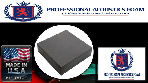 "Soundproof Foam Professional 2"" X 36"" X 96"" Upholstery Foam Cushion Charcoal"