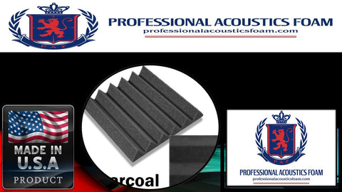 "Soundproof Foam Professional Acoustics Foam Acoustic Foam 2"" Thick Wedge Style 4ft X 6ft Sheet (24 Sqft)"