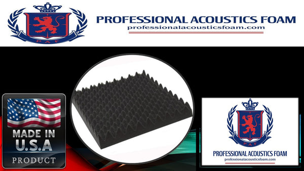 Soundproof Foam Professional 2.5 in. Gun Case Foam 12 x 36 x 2.5 Egg Crate - 1 piece