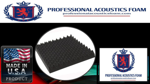 "Soundproof Foam Professional Acoustics Foam Convoluted Foam Sheets 24 X 36 X 4"" - 4 Sets"