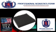 Soundproof Foam Professional 2.5 in. Gun Case Foam 12 x 60 x 2.5 Egg Crate - 1 piece