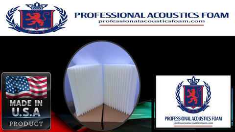 Soundproof Foam New 4 pack bass trap ivory acoustic foam corner.