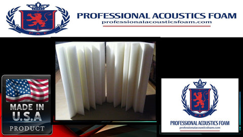 "Soundproof Foam Professional Acoustics Foam New 4 Pack Ivory Bass Absorber Corner Sound Proofing Foam.12"" X12"" X 24"""