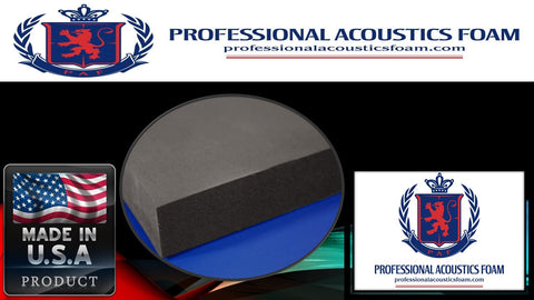 "Soundproof Foam Professional Acoustic Foam Flat Panel. 2"" X 24"" X 72"" (1 Piece)"