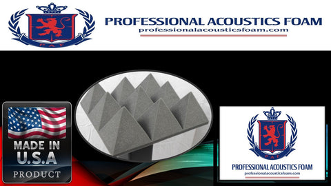 "Soundproof Foam Professional Acoustics 4"" x 12"" x 12"" Charcoal Acoustic Pyramid Studio Foam 12 Pack"