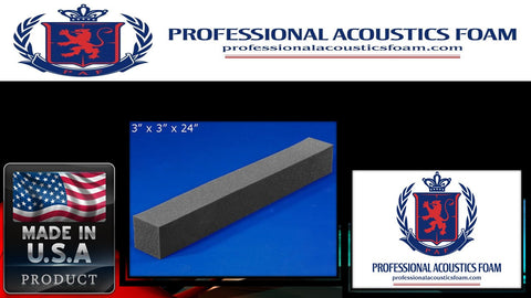 Soundproof Foam Professional Acoustic Foam Corner Blocks 3 X 3 X 24 1 Pack of 16 Pieces