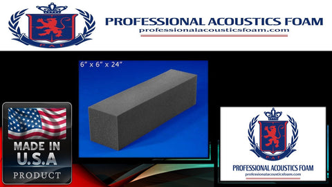 Soundproof Foam Professional Acoustic Foam Corner Blocks 6 X 6 X 24 1 Piece