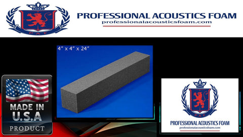 Soundproof Foam Professional Acoustic Foam Corner Blocks 4 X 4 X 24 1 Pack of 8 Pieces