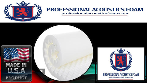 "Soundproof Foam Professional Acoustics Foam 2.5"" Acoustic Foam White Egg Crate - 2-1/2"" X 72"" X 80"" Covers 40sq Ft"