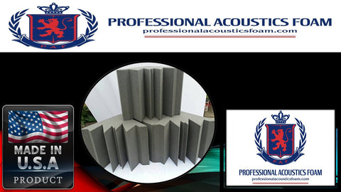 Soundproof Foam Acoustic Sound Proof Foam Corner Kit. Sold By the Kit.