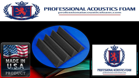 "Soundproof Foam Professional Acoustics Foam Acoustic Foam 12 Pack Room Kit - Wedge 3"" 24"" X 24"" Covers 48sq Ft"