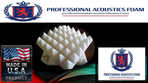 "Soundproof Foam Professional Ivory Pyramid Acoustic Foam (Single) 2"" 24"" X 24"" 2' X 2' Covers 4 Sq Ft -"