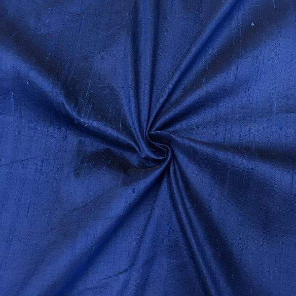 "100% Pure Silk Dupioni Fabric 54""Wide BTY Drape Blouse Dress Craft Sold By The Yard. Royal Blue"