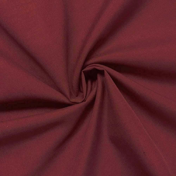 "Polycotton Fabric Poly Cotton Dress Craft 60"" Wide By Yard For Shirts Clothing Garments Bed Spreads Pillow Cases Fashion Broadcloth Burgundy"