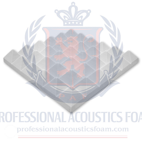 "Soundproof Foam Professional Acoustics Foam Ivory Acoustic Foam 2"" Thick Pyramid Style 4ft X 8ft"