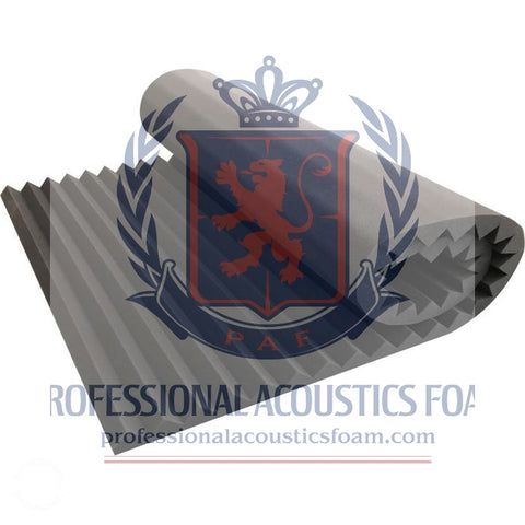 "Acoustic Foam 2"" Thick Wedge Style 8ft X 6ft Sheet (48 Sqft)"