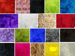 Faux Fake Fur Solid Mongolian Long Pile Fabric /Sold By The Yard. Choose Color Below