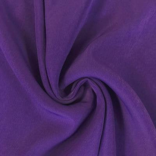 "Peach Skin Fabric By Yard 58"" Polyester Perfect For Blouses, Dresses, Jackets, Suits. Purple"