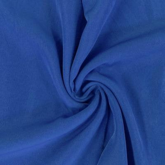"Peach Skin Fabric By Yard 58"" Polyester Perfect For Blouses, Dresses, Jackets, Suits. Royal Blue"