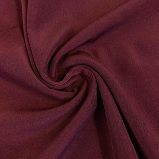 "Peach Skin Fabric By Yard 58"" Polyester Perfect For Blouses, Dresses, Jackets, Suits. Wine"