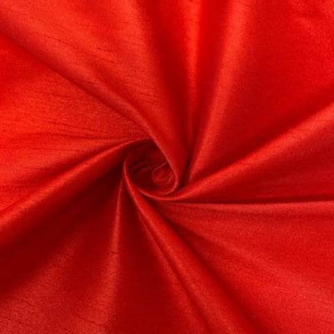 "Poly Dupioni Raw Silk Dupioni Fabric - 58/60"" - Sold By Yard - 100% Polyester. Red"