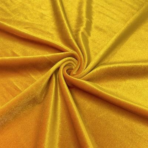 Polyester Spandex Velvet 2 Way Stretch Medium Weight Fabric-By Yard For Tops, Dresses, Skirts, Dance Wear, Costumes, Crafts Gold