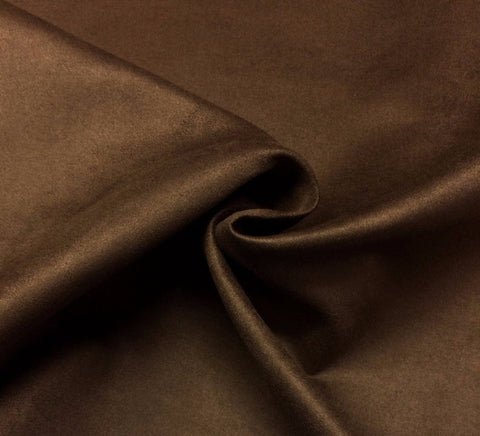 "Microfiber Suede Upholstery Espresso Brown Micro fake Faux Drapery Fabric sold by the yard 60"" Wide"