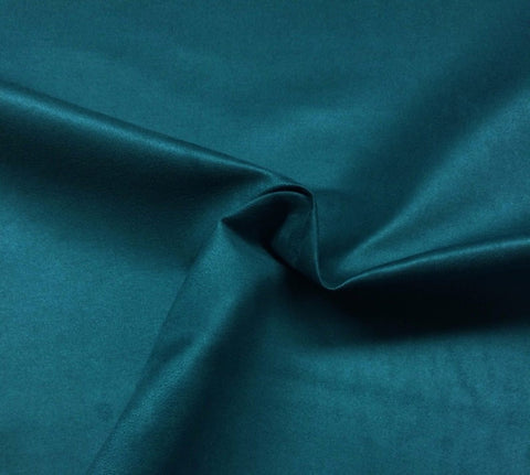 "Microfiber Suede Upholstery Teal Blue Micro fake Faux Drapery Fabric sold by the yard 60"" Wide"