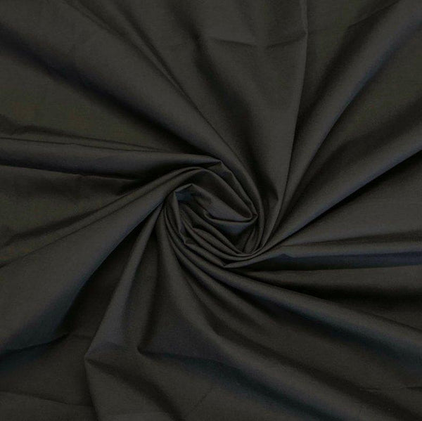 "Polycotton Fabric Poly Cotton Dress Craft 60"" Wide By Yard For Shirts Clothing Garments Bed Spreads Pillow Cases Fashion Broadcloth Black"