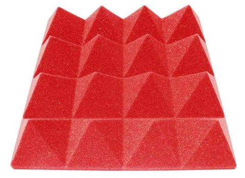 "Soundproofing Acoustical Foam Sheet Acoustic Foam 3"" Thick Pyramid Style 6ft X 8ft Sheet (48 Sqft) Choose Color Below"