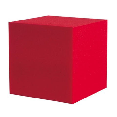 "2 Pc Corner Fill Soundproofing Acoustical Foam 12""x12""x12"" Corner Fill Cube (2 Pc.) Red"