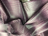 FAUX LEATHER Dragon-faux leather vinyl leather- 3D scales 2-tone Winter Lilac-sold by yard