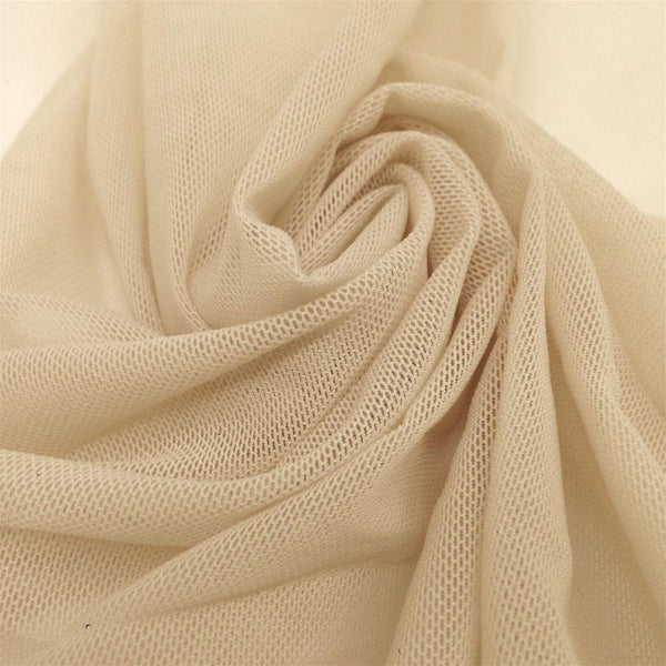 "Solid Power Mesh Fabric Nylon Spandex 60"" wide Stretch Sold by 5 yards Nude"