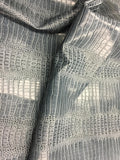 FAUX LEATHER Big Nile Gray crocodile leather vinyl fabric embossed upholstery alligator by yard.