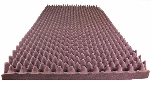 "BURGUNDY SOUNDPROOF FOAM PROFESSIONAL ACOUSTIC FOAM EGG CRATE PANEL STUDIO SOUNDPROOFING FOAM WALL PANEL 96"" X 36"" X 2.5"""