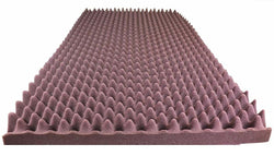"BURGUNDY SOUNDPROOF FOAM PROFESSIONAL EGG CRATE ACOUSTIC FOAM. 2"" X 48"" X 96"" (1 PIECE)"